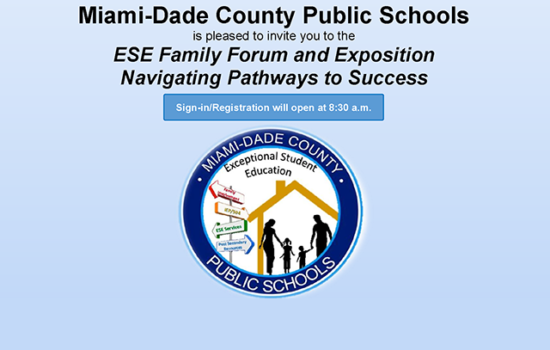 ESE Family Forum and Exposition – Oct 29th from 9am – Noon (Click for complete info)