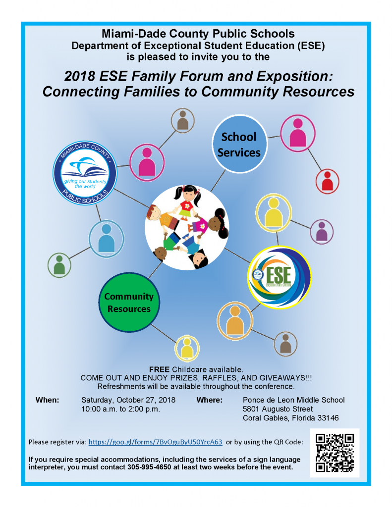 2018 ESE Family Forum and Exposition @ Ponce de Leon Middle School