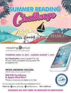 Reading Plus Summer Challenge