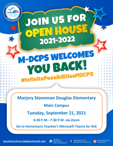 Open House - Main Campus (3rd, 4th & 5th Grades) @ Zoom
